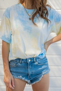 T-SHIRT TIE DYE BLUE-YELLOW